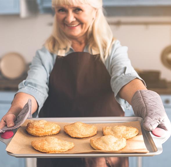 Women offers Fried Pies