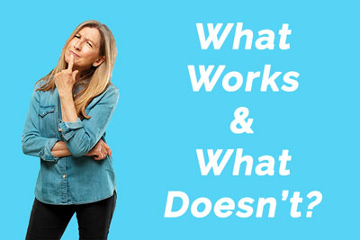 Woman thinking about what works and what doesn't when it comes to HBOT treatment for fibromyalgia.